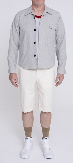Shirt Ullrich Jacket über Gatsby Narrow Hem Shorts