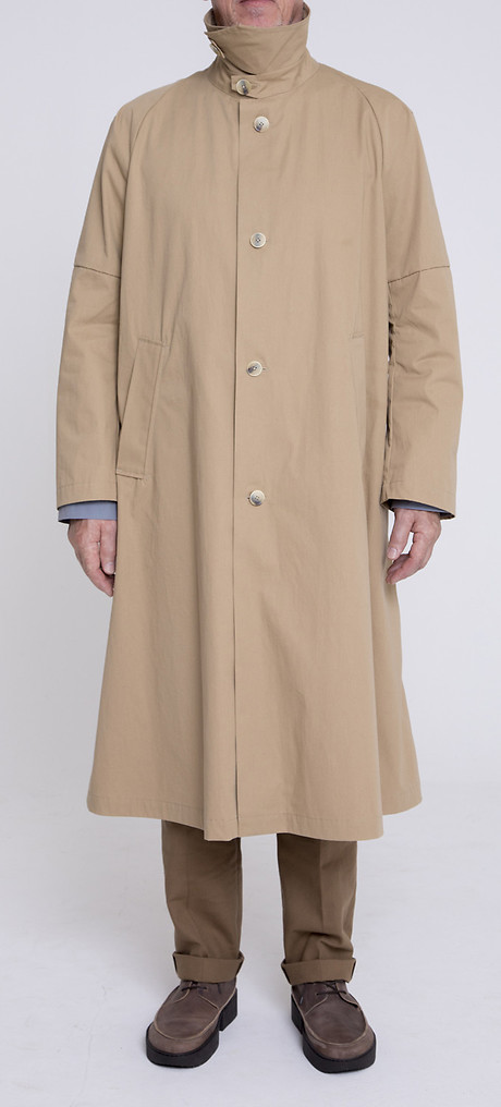 Trench Coat über Gatsby Narrow Hem, Front