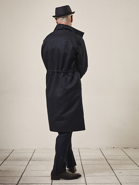 "Formal Parka, Pleated Pants 5"" Narrow Hem"