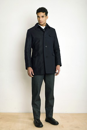 Slipon Coat, Overall, Plastron Shirt