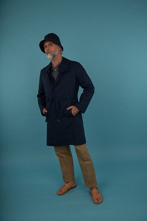 Trench Coat Formal Tee with Stand Up Collar New Formal Baggy Pant Ankle Length Bucket Hat